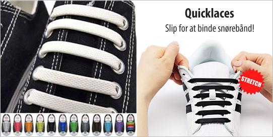 QuickLaces - silikone snørebånd