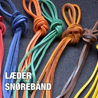 Firkantede læder snørebånd