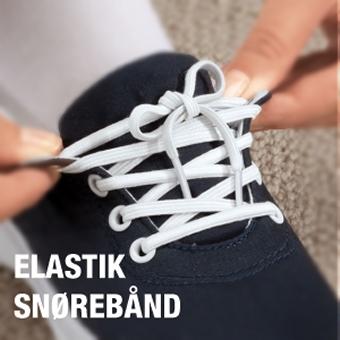 Flade elastik snørebånd