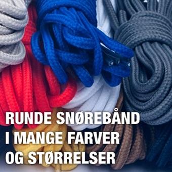 Runde snørebånd i mange farver
