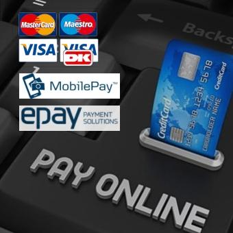 Vi accepterer de mest almindelige betalingsmetoder