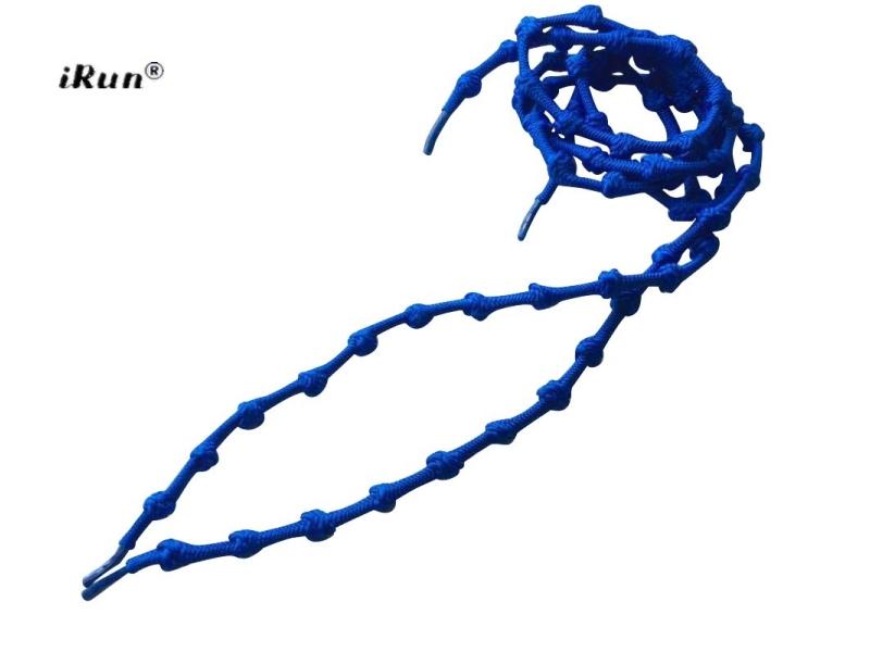 Blå iRun® - elastik snørebånd m/knuder