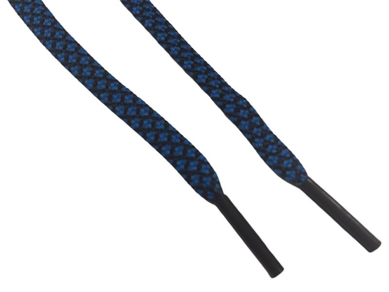 Blå-Sort mønstret flade 4mm til fodboldstøvler