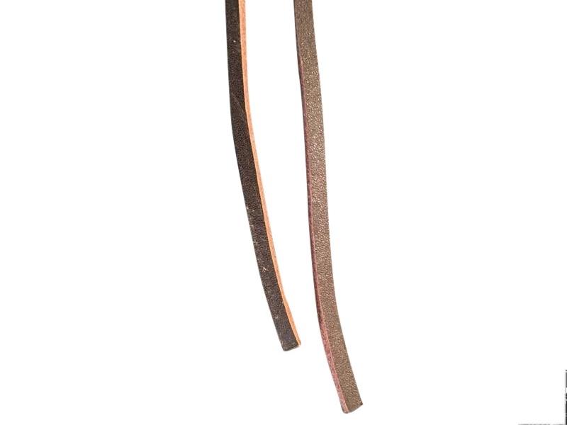 Firkantet læder snørebånd 75cm Brune