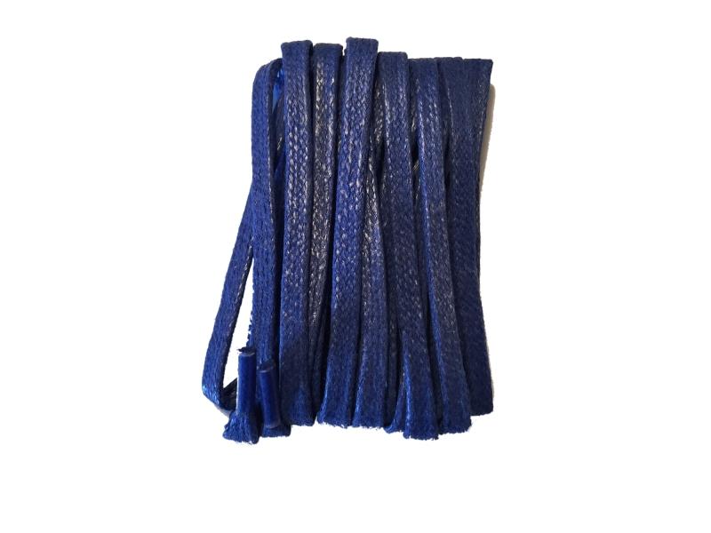 Flade 3mm fine snørebånd blå
