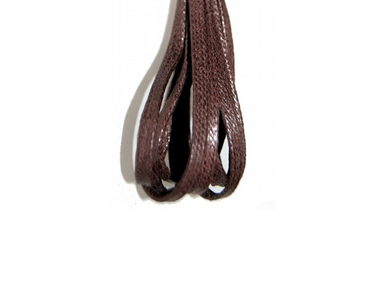 Flade 3mm fine snørebånd brun