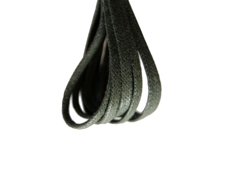 Flade 3mm fine snørebånd græs grøn