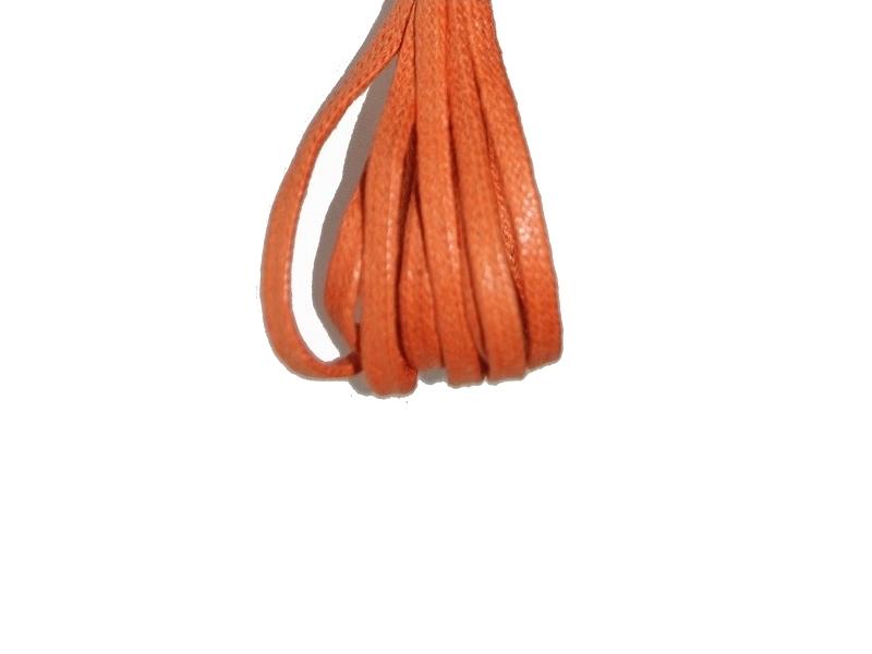 Flade 3mm fine snørebånd orange