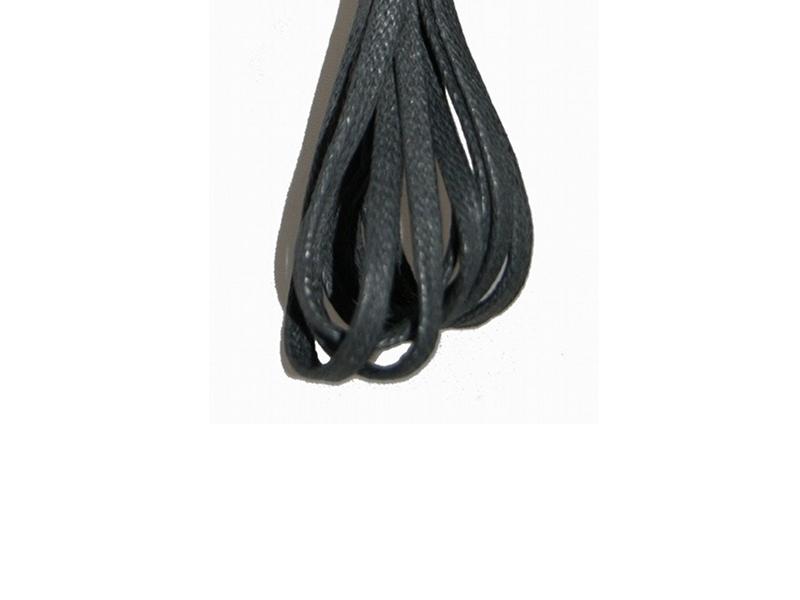 Flade 3mm fine snørebånd sort