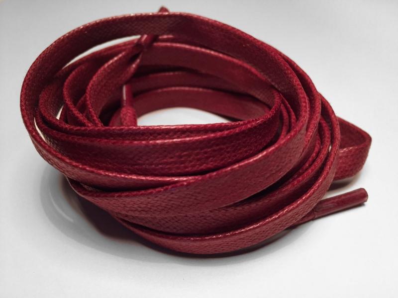 Flade 7mm voksbehandlede snørebånd Bordeaux