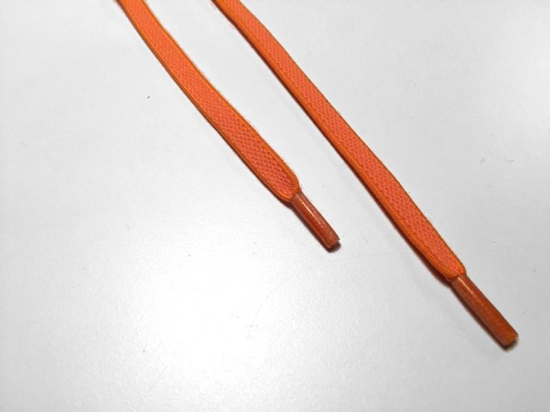 Flade elastik snørebånd - Orange