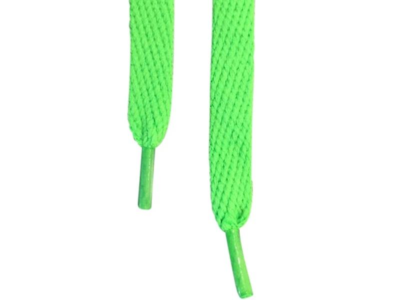 Flade snørebånd 10mm grøn