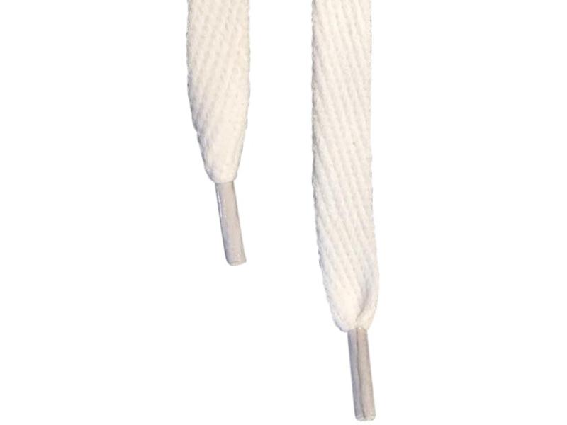 Flade snørebånd 10mm hvid