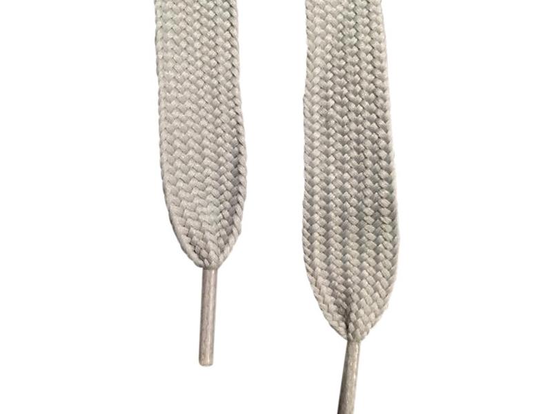 Flade snørebånd - 20mm Super brede grå