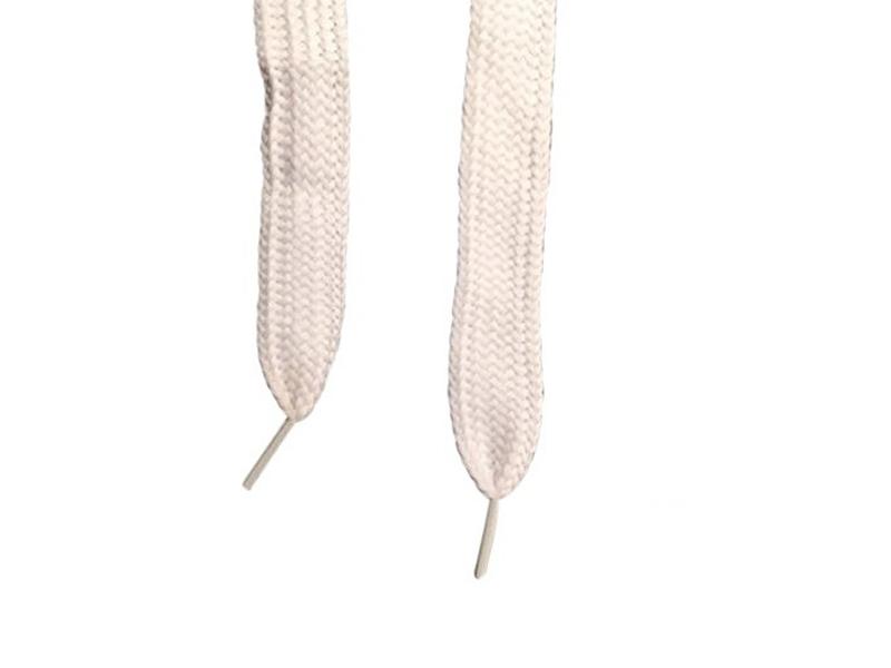 Flade snørebånd - 20mm Super brede hvid