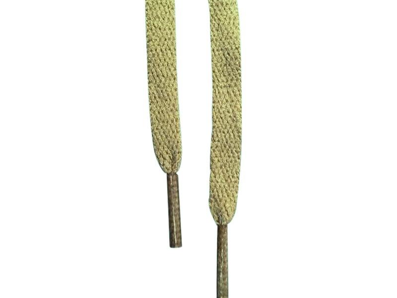 Flade snørebånd 8mm Army grøn