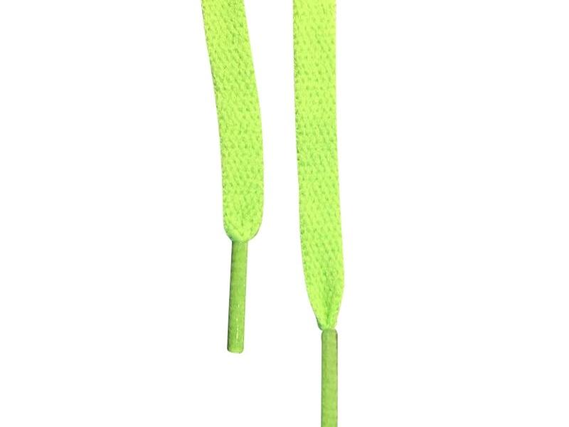 Flade snørebånd 8mm Lys grøn