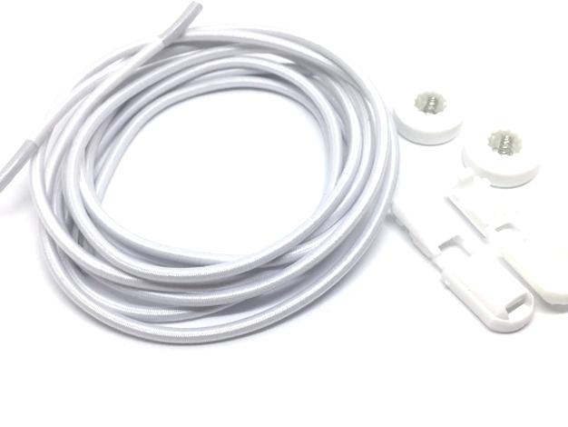 Lock laces iRun® - elastik snørebånd one size Hvid plain