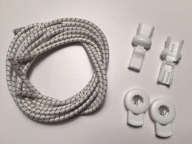 Lock laces iRun® - elastik snørebånd one size Hvid