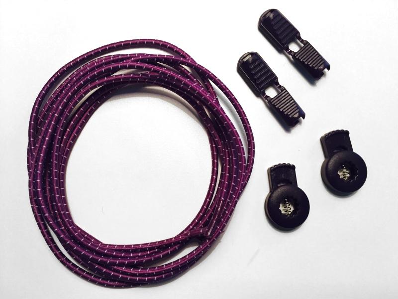 Lock laces iRun® - elastik snørebånd one size Lilla