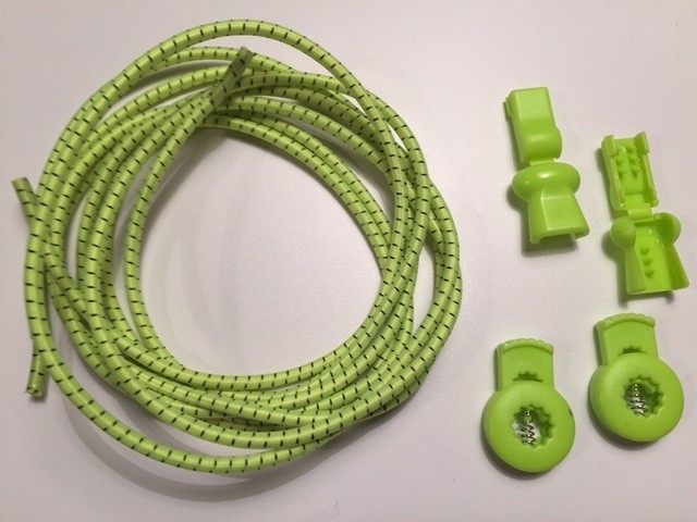 Lock laces iRun® - elastik snørebånd one size Neon grøn