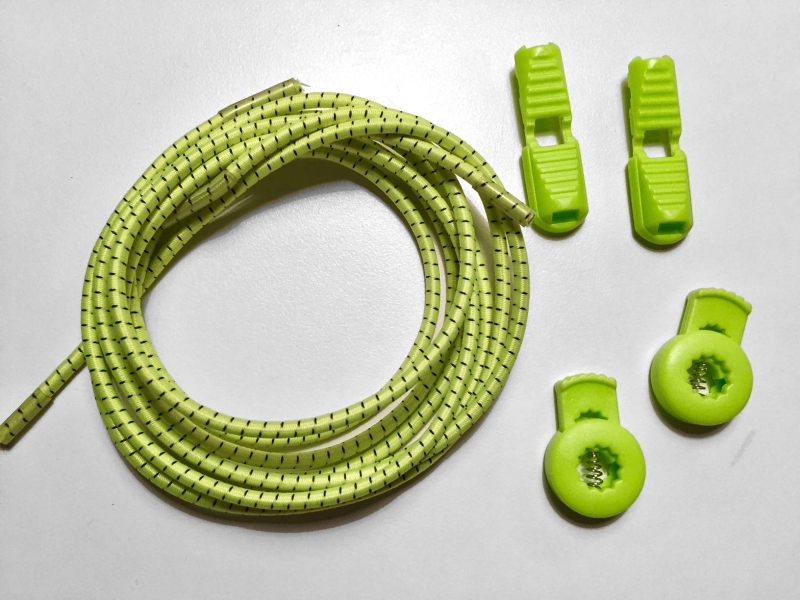 Lock laces iRun® - elastik snørebånd one size Neon Gul