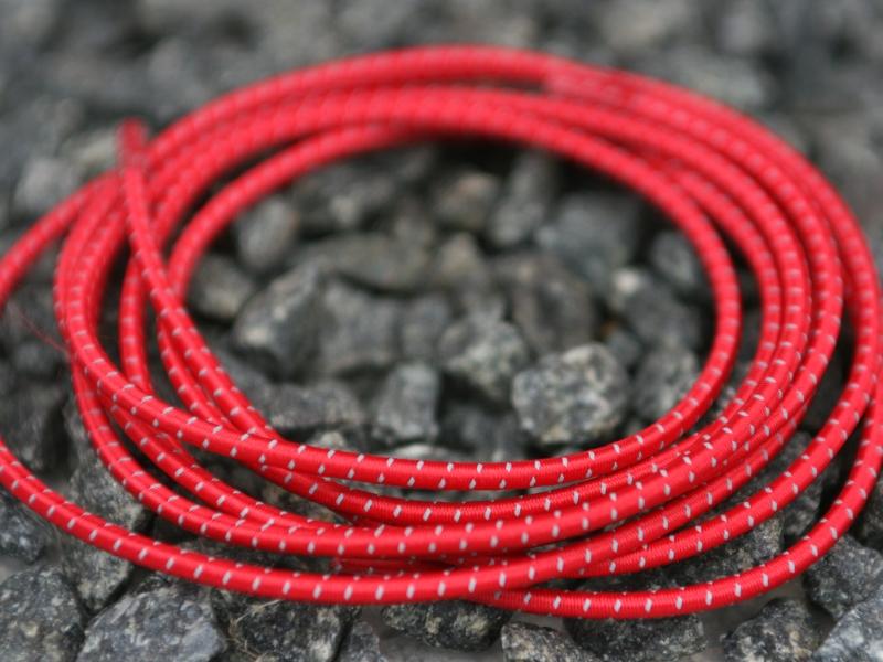 Lock Laces Refleks 3M iRun - elastik snørebånd m/refleks one size rød