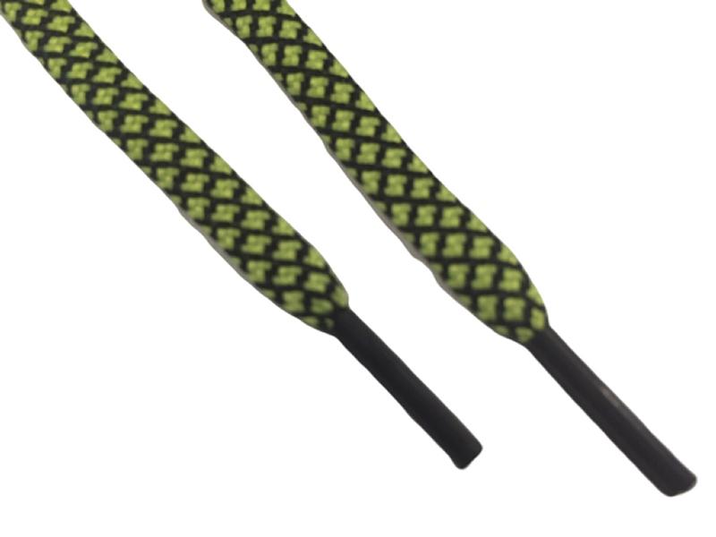 Neongul-Sort mønstret flade 4mm til fodboldstøvler