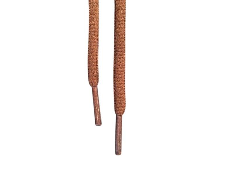 Ovale snørebånd 6mm - Brun