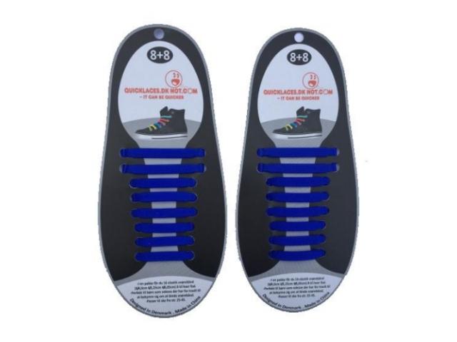 QuickLaces silikone snørebånd Blå