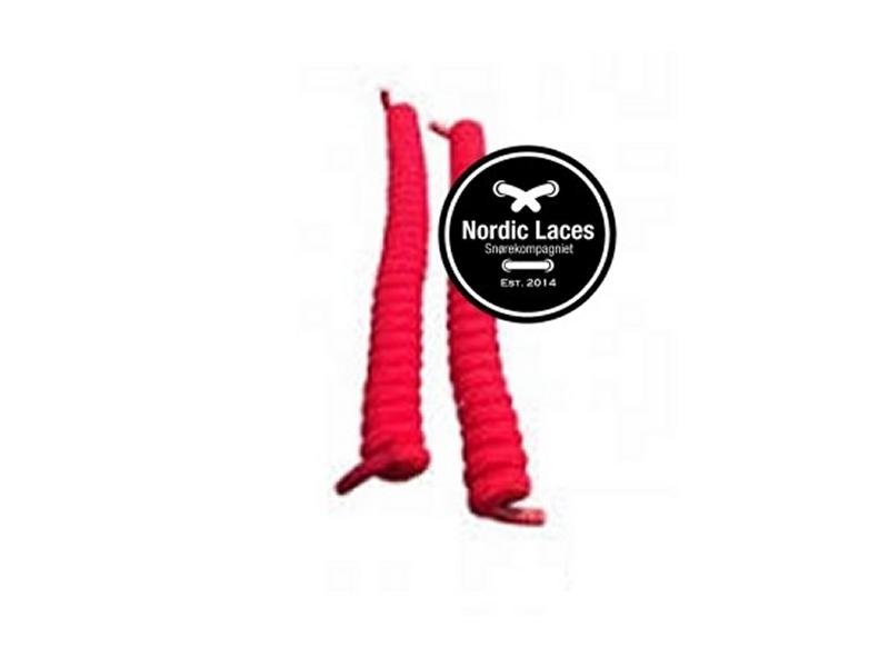 Røde spiral snørebånd 12cm (100-105cm) elastik