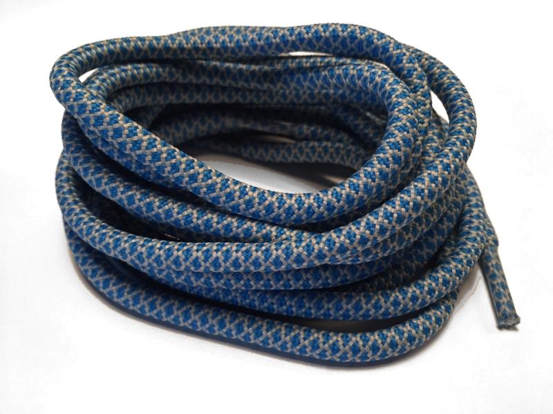 6f7db769d12 Blå og grå runde snørebånd m/Gingham mønster * Yeezy laces * super ...