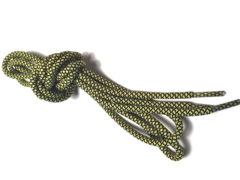 Rope laces - Yeezy -  130cm 5mm - Gul m/sort