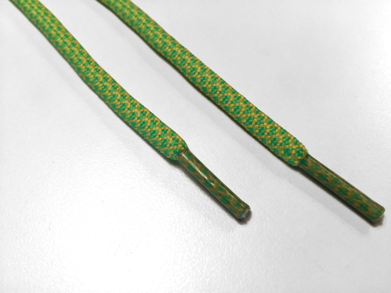 Rope laces - Yeezy -  130cm 5mm - Lysgrøn og gule