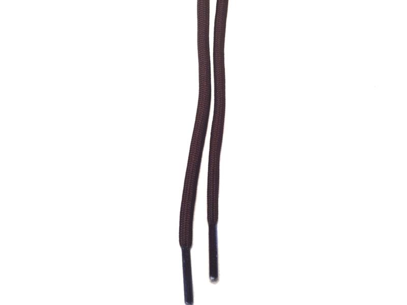 Runde snørebånd 4,5mm - Brun