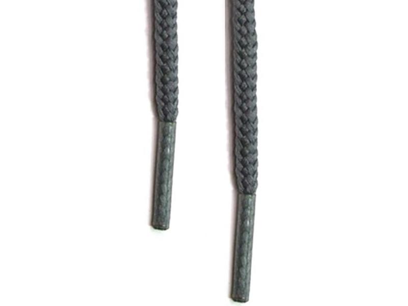 Runde snørebånd 4,5mm - Mørkegrå