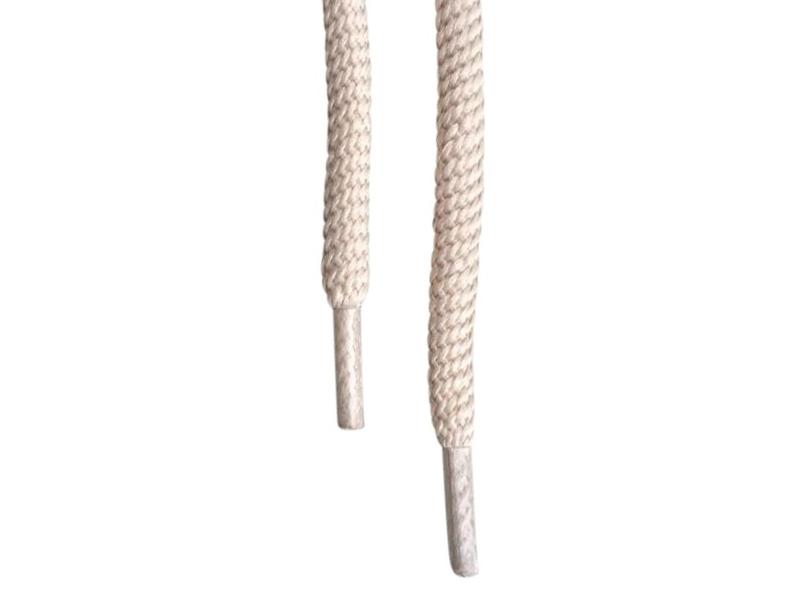 Runde snørebånd 5mm - Beige
