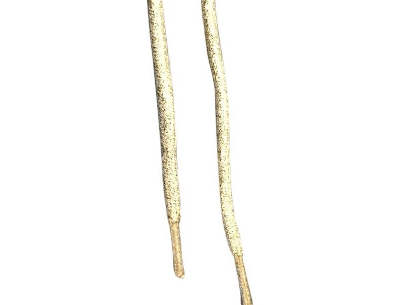 Runde snørebånd guld