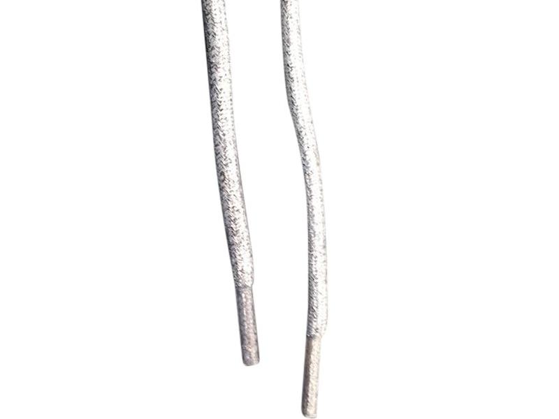 Runde snørebånd sølv
