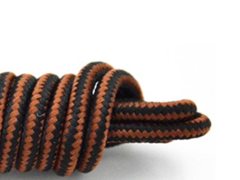 Runde snørebånd til støvler * gule brune striber * KØB HER *