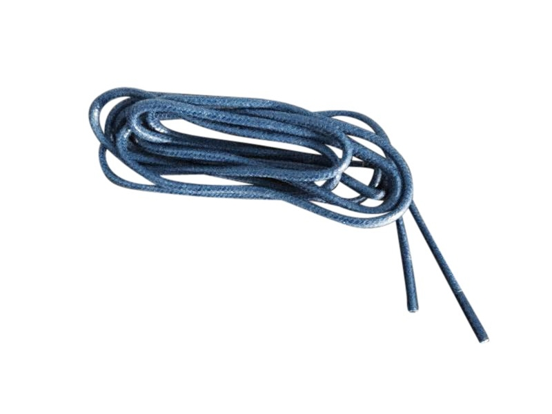 Tynde snørebånd 2,5mm voksede - Blå