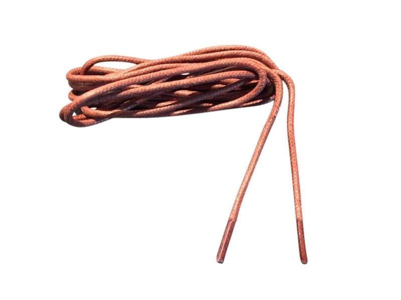 Tynde snørebånd 2,5mm voksede - Brune