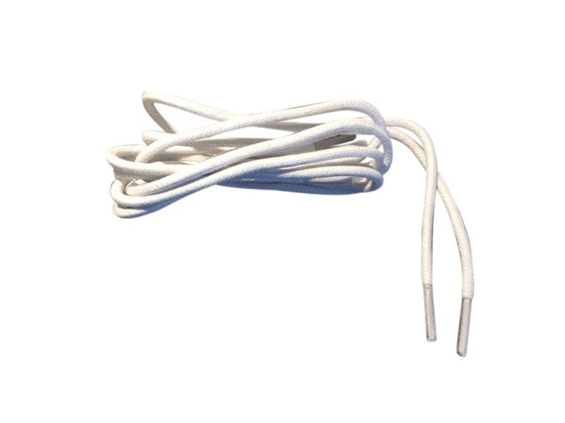Tynde snørebånd 2,5mm voksede - Hvide