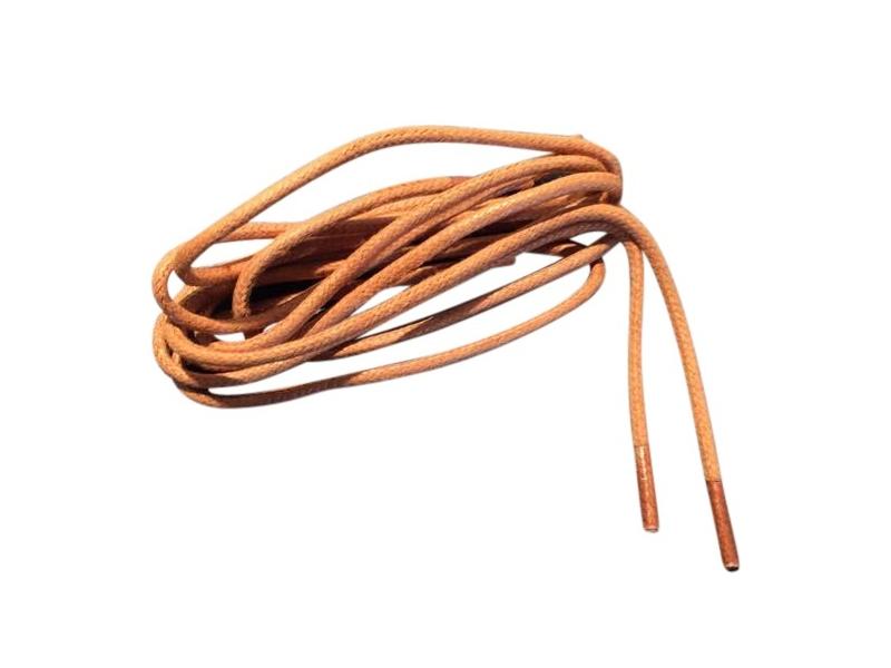 Tynde snørebånd 2,5mm voksede - Lys brun