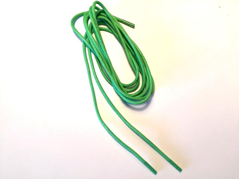 Tynde snørebånd 2,5mm voksede - Lysegrønne