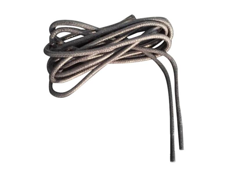 Tynde snørebånd 2,5mm voksede - Mørkegrå